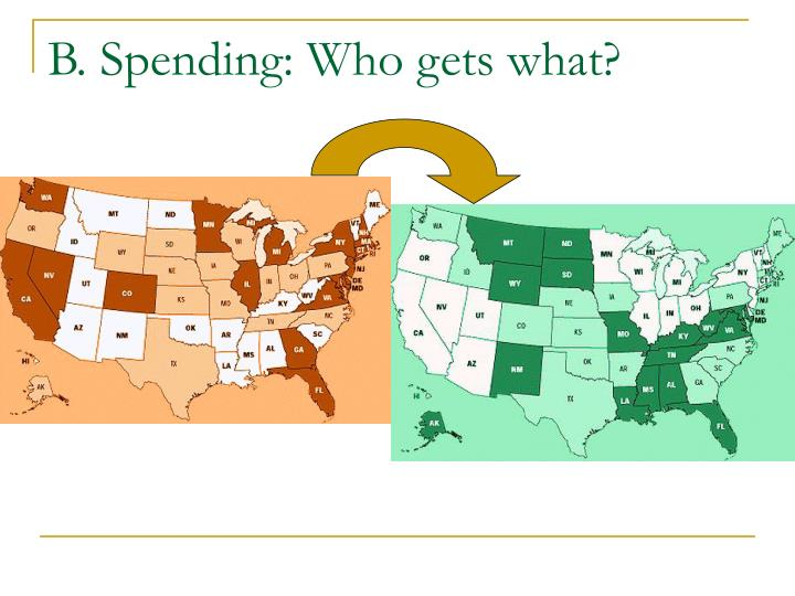 B. Spending: Who gets what?