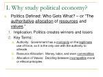 i why study political economy