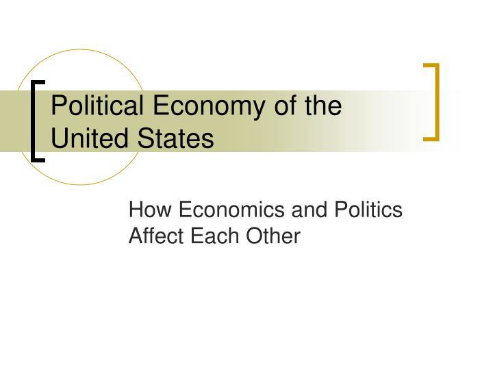 political economy of the united states n.