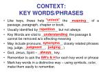 context key words phrases