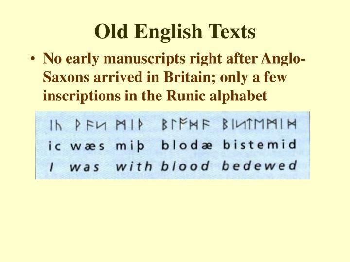 Old English Texts