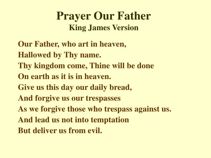 Prayer Our Father
