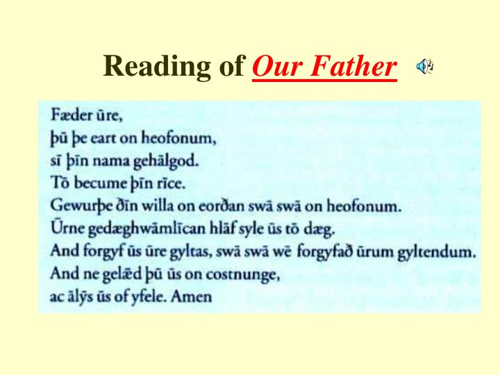 Reading of