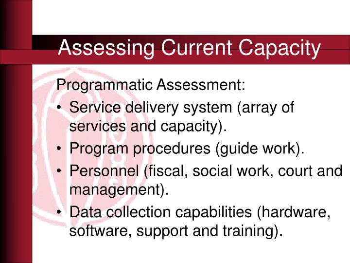 Assessing Current Capacity