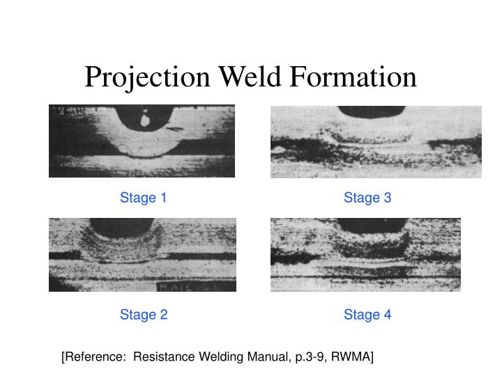 Projection Weld Formation