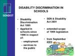 disability discrimination in schools