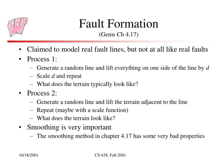 Fault Formation