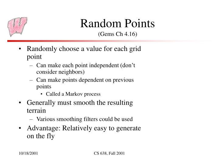 Random Points