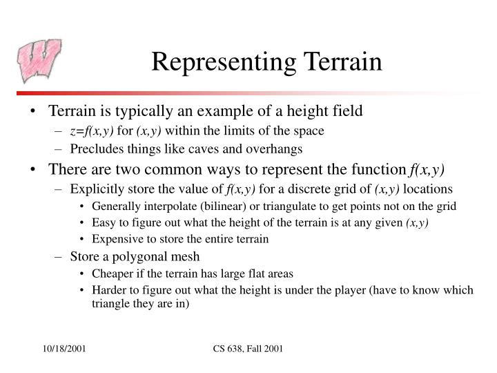 Representing terrain