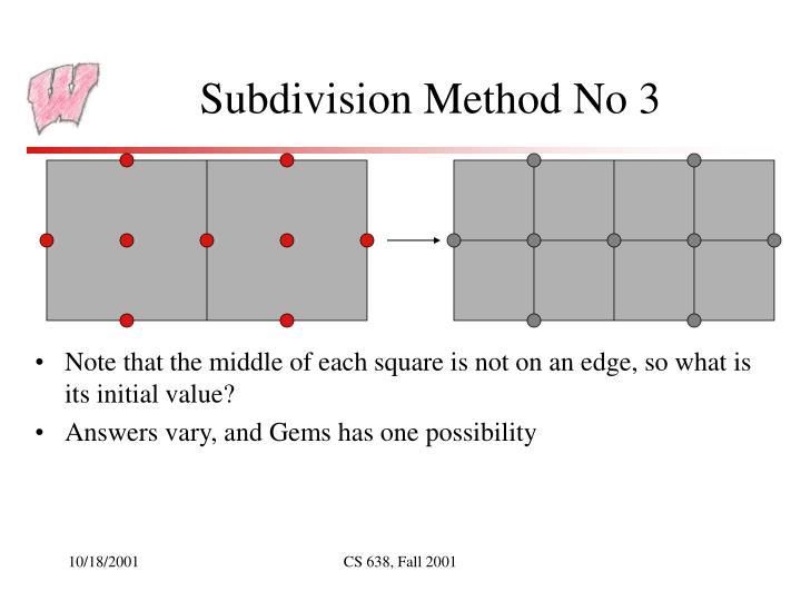 Subdivision Method No 3