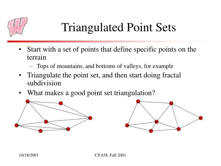 Triangulated Point Sets