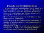 poverty traps implications