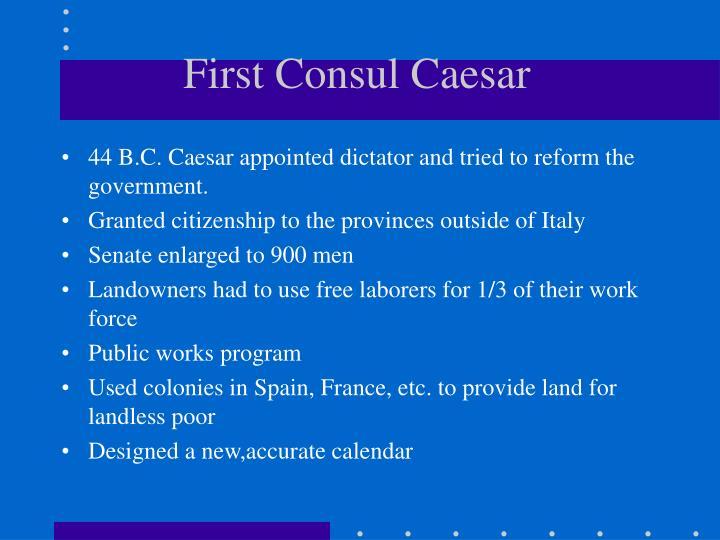 First Consul Caesar