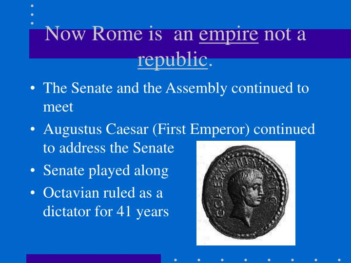 Now Rome is  an