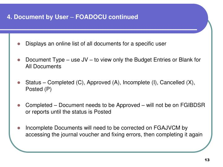 4. Document by User