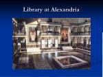 library at alexandria
