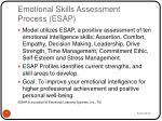 emotional skills assessment process esap