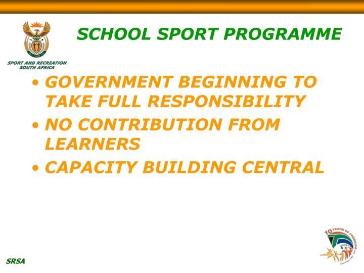 SCHOOL SPORT PROGRAMME