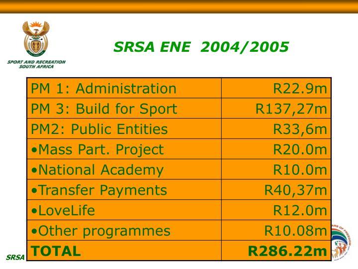 SRSA ENE  2004/2005