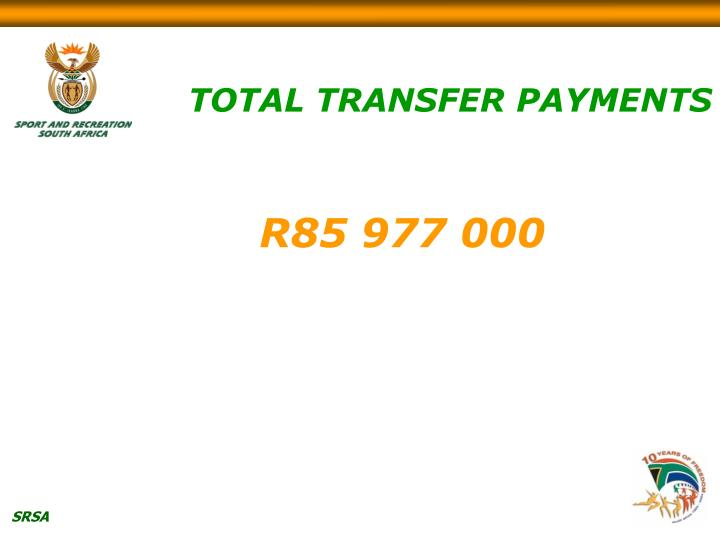 TOTAL TRANSFER PAYMENTS