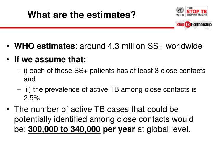 What are the estimates?