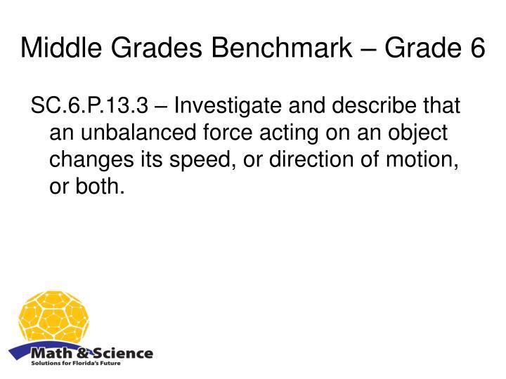 Middle Grades Benchmark – Grade 6