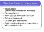 practical ideas to incorporate