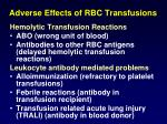 adverse effects of rbc transfusions2