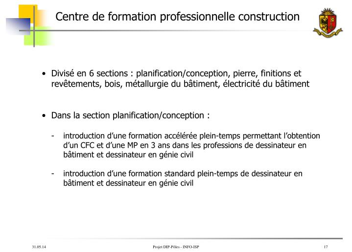 Centre de formation professionnelle construction