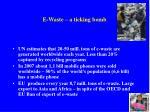 e waste a ticking bomb