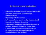 key issues in reverse supply chains