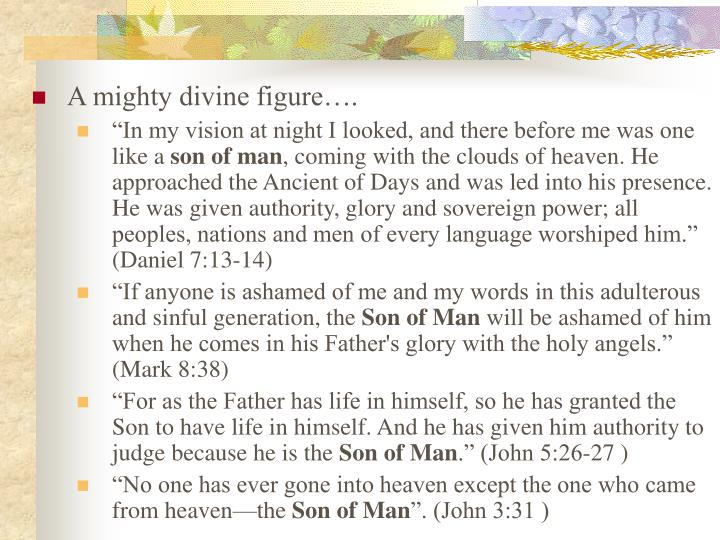 A mighty divine figure….