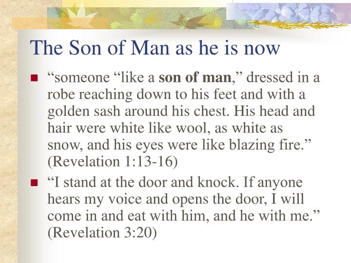 The Son of Man as he is now