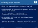 resetting device counters