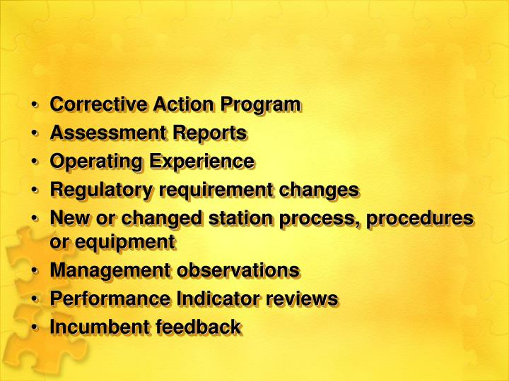 Corrective Action Program