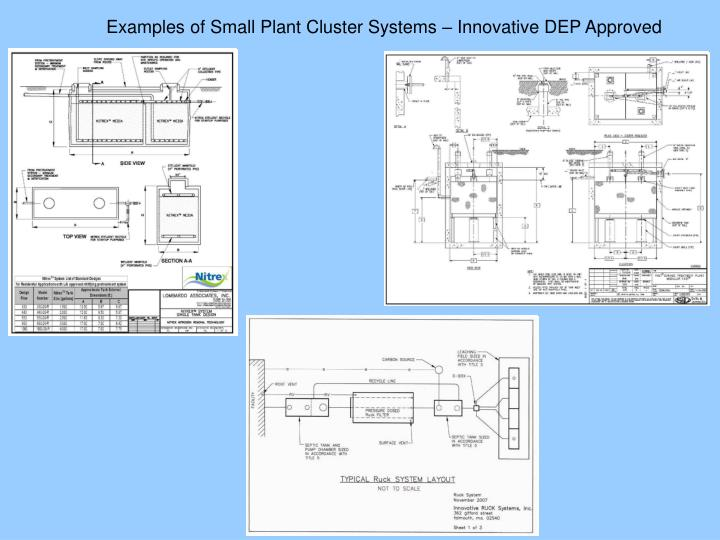 Examples of Small Plant Cluster Systems – Innovative DEP Approved