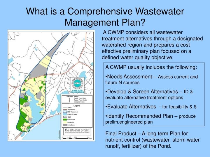 What is a comprehensive wastewater management plan