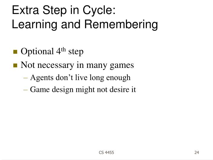 Extra Step in Cycle: