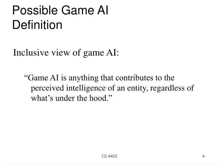 Possible Game AI