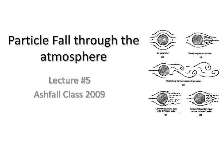 Particle fall through the atmosphere