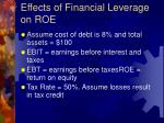 effects of financial leverage on roe