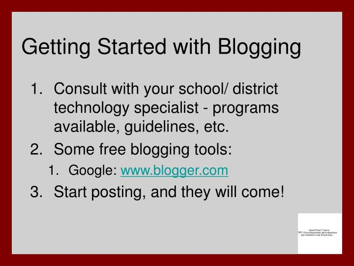 Getting Started with Blogging
