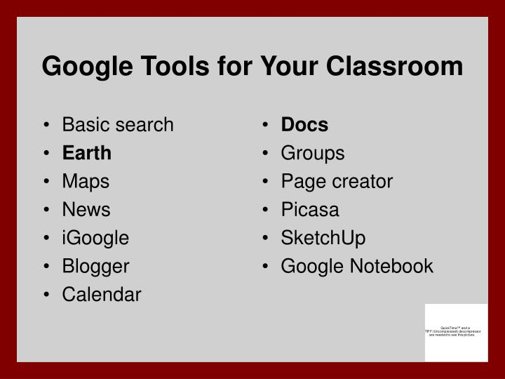 Google tools for your classroom
