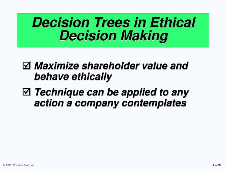 Decision Trees in Ethical Decision Making