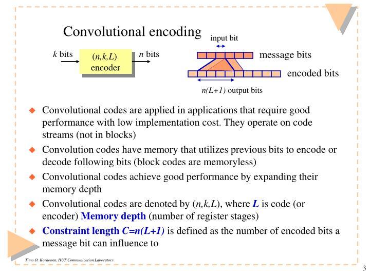 Convolutional encoding