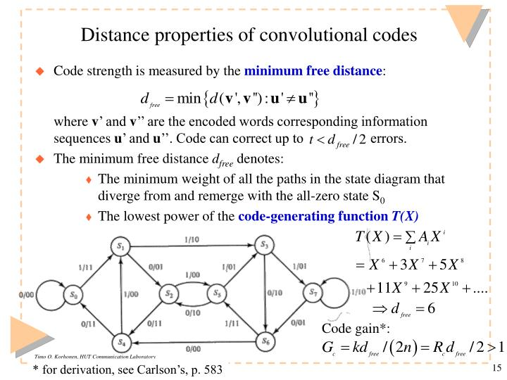 Distance properties of convolutional codes