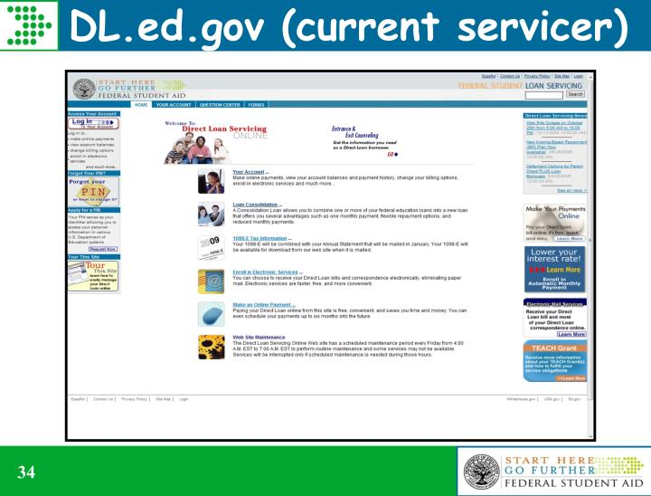 DL.ed.gov (current servicer)
