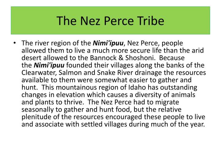 The Nez Perce Tribe