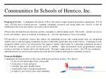 communities in schools of henrico inc