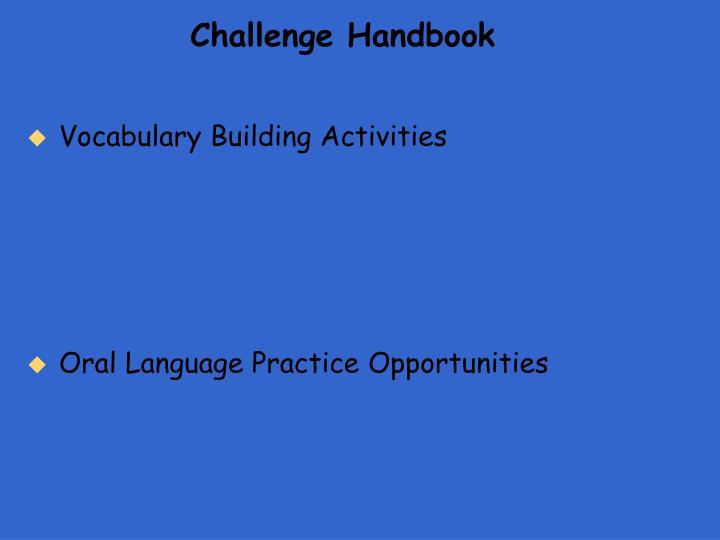 Challenge Handbook